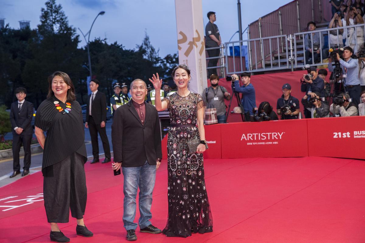 惠英紅以《Mrs. K》成為釜山影展紅毯上唯一的華人明星。