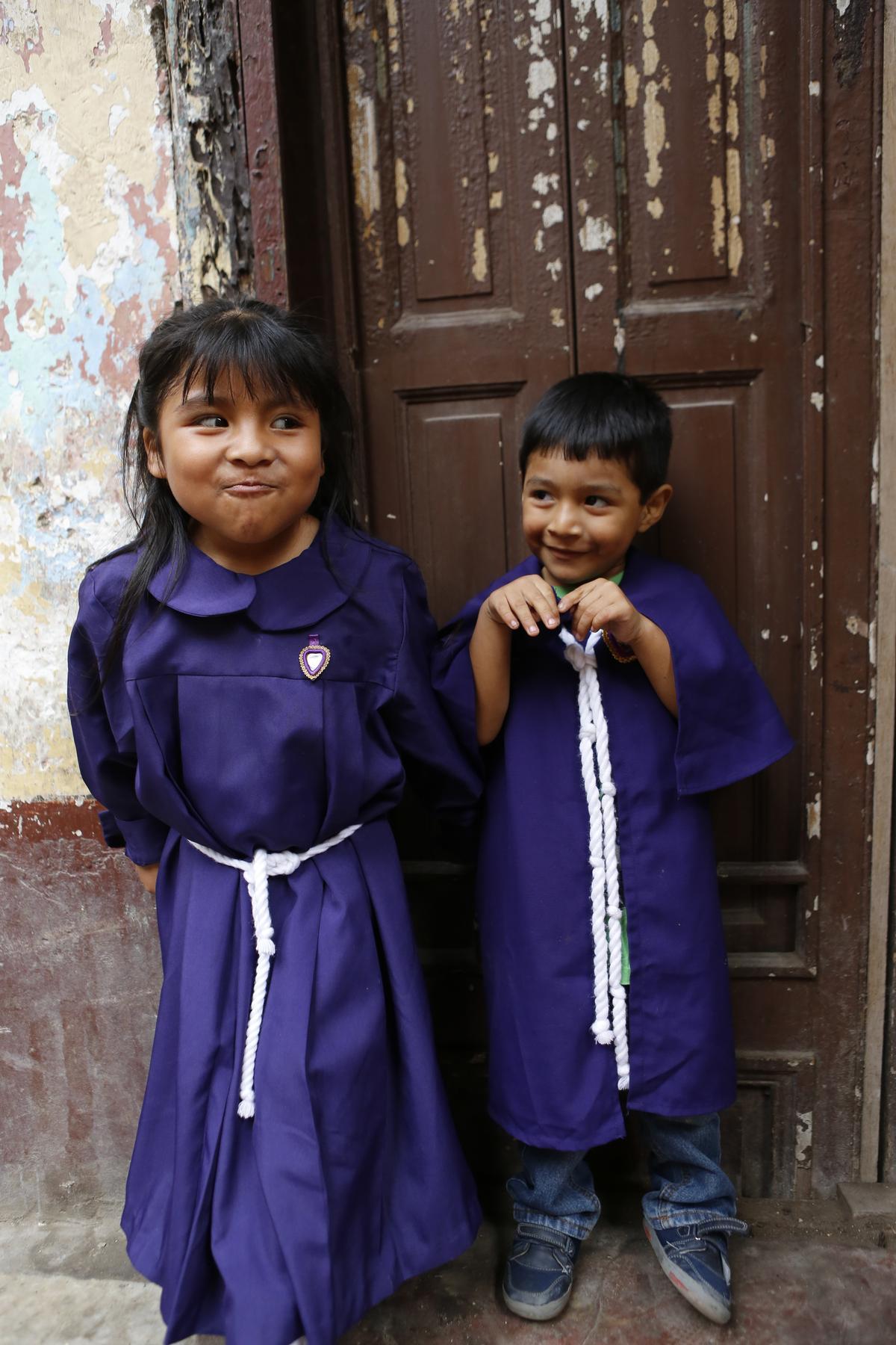 紫色在天主教屬於神聖的顏色。
