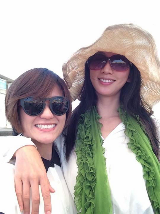 海裕芬和林志玲是閨蜜,兩人稱以後要蓋座姑婆村。(海芬提供)