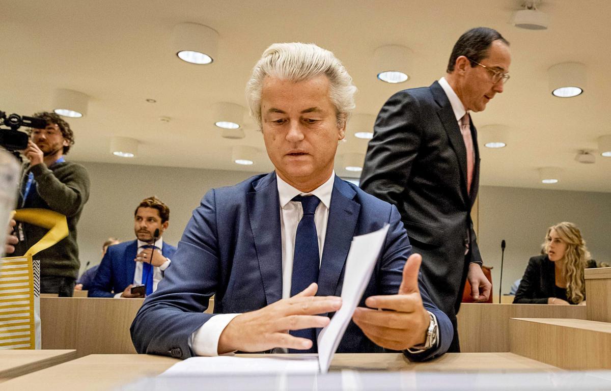 荷蘭2017年將舉行大選,反伊斯蘭、反歐盟、反移民的自由黨聲勢看漲。圖為該黨黨魁懷爾德斯。(東方IC)