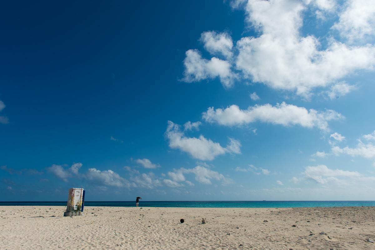 危機解除後,來個海灘散步!