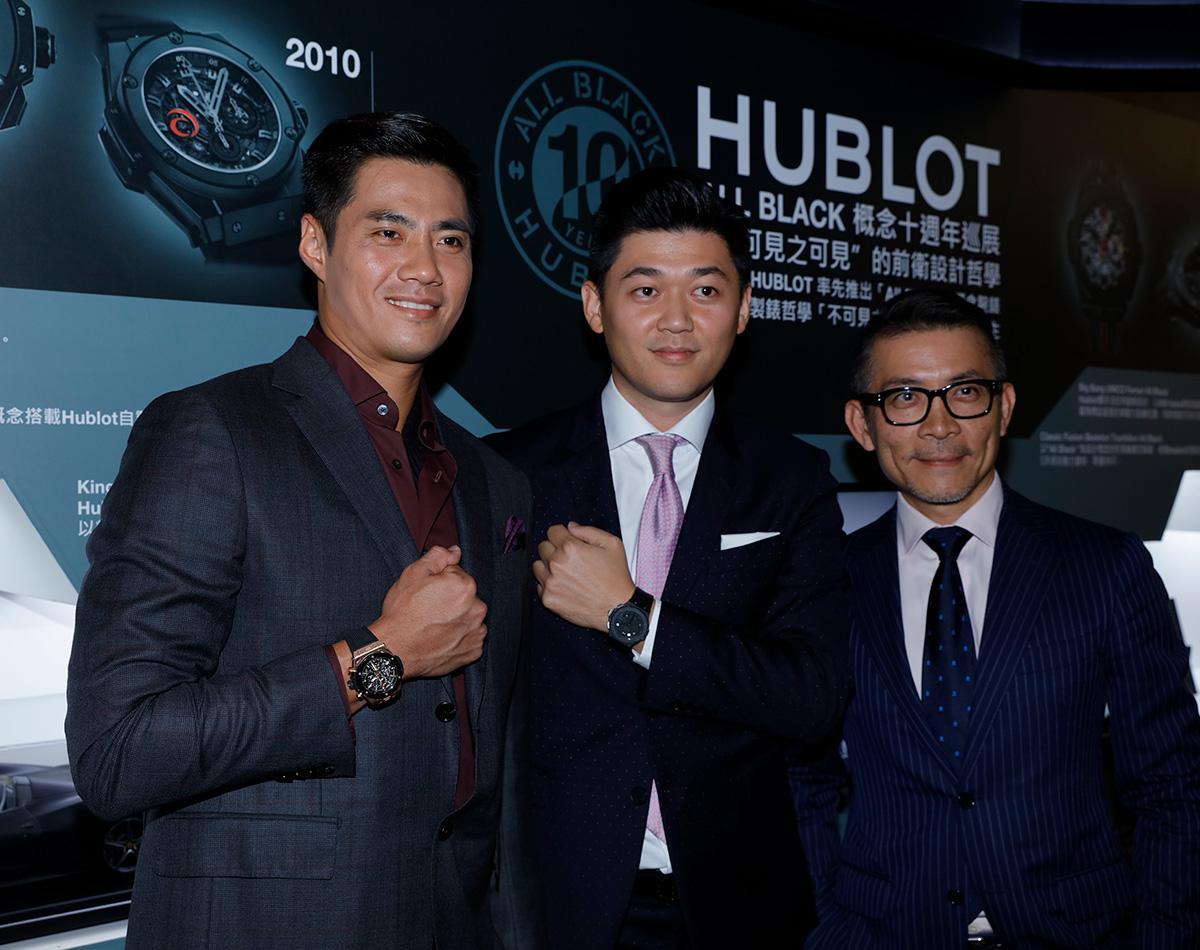 HUBLOT宇舶錶 ALL BLACK 概念十週年巡展,請來旅美投手陳偉殷(左)站台。