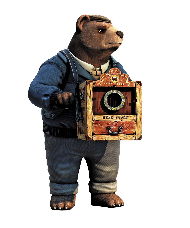 奧索里歐受記憶裡爺爺高大身影的啟發,創造出智利熊原型。(Punkrobot Studio提供)