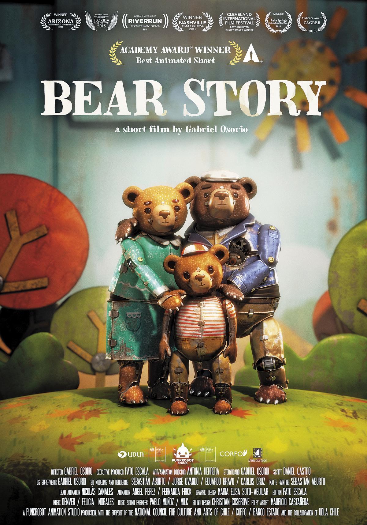 智利小型動畫工作室Punkrobot耗時6年製作《熊的故事》,前後奪得55個國際大獎,最後抱回第88屆奧斯卡金像獎。(Punkrobot Studio提供)