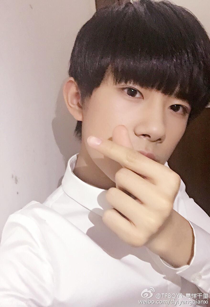 易烊千璽才16歲,已經是中國最具人氣的小鮮肉。(載自微博)