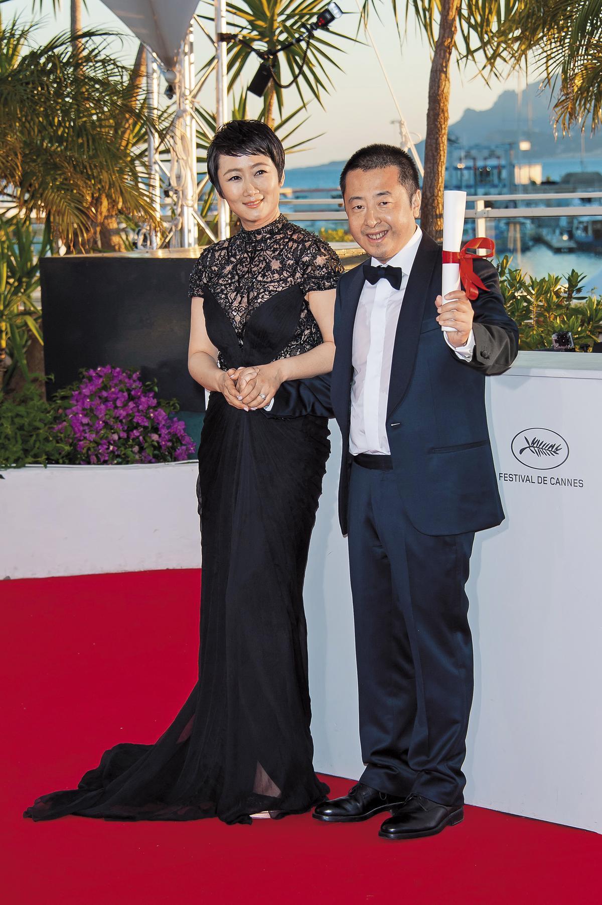 中國導演賈樟柯(右)擔任CISAC副主席期間,積極推動「二次獲酬權」,讓編劇、導演未來能透過集管單位獲得版權收入。(東方IC)