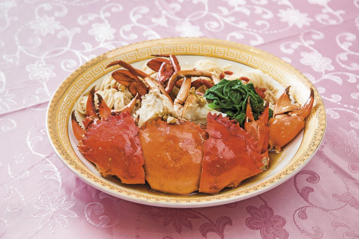 河邊市中店海鮮餐廳人氣料理麻香麵線大沙公(時價/ 約2000元~2500元)