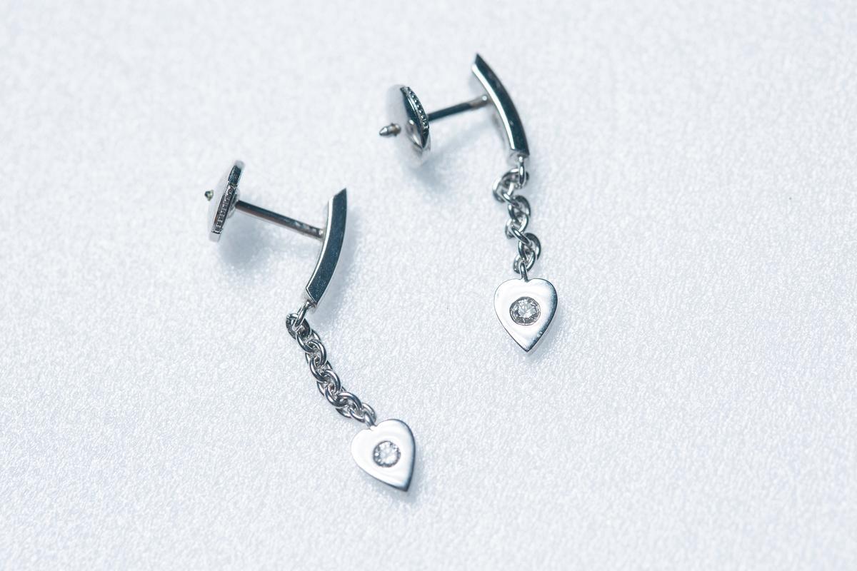 已有7、8年歷史、任何場合都能搭配的Cartier耳環。約NT$30,000