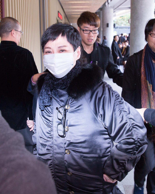 演藝圈資深的張小燕出席小明明公祭。