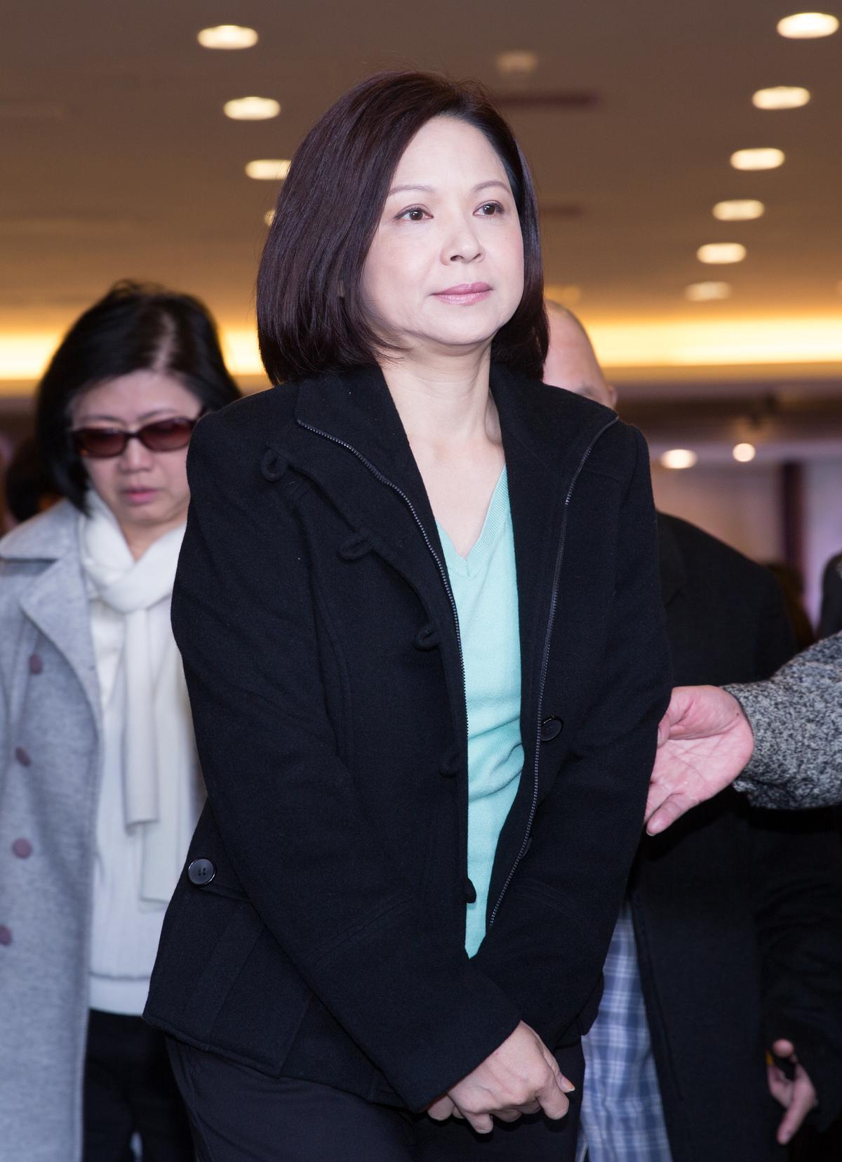 演藝圈資深的楊貴媚出席小明明公祭。
