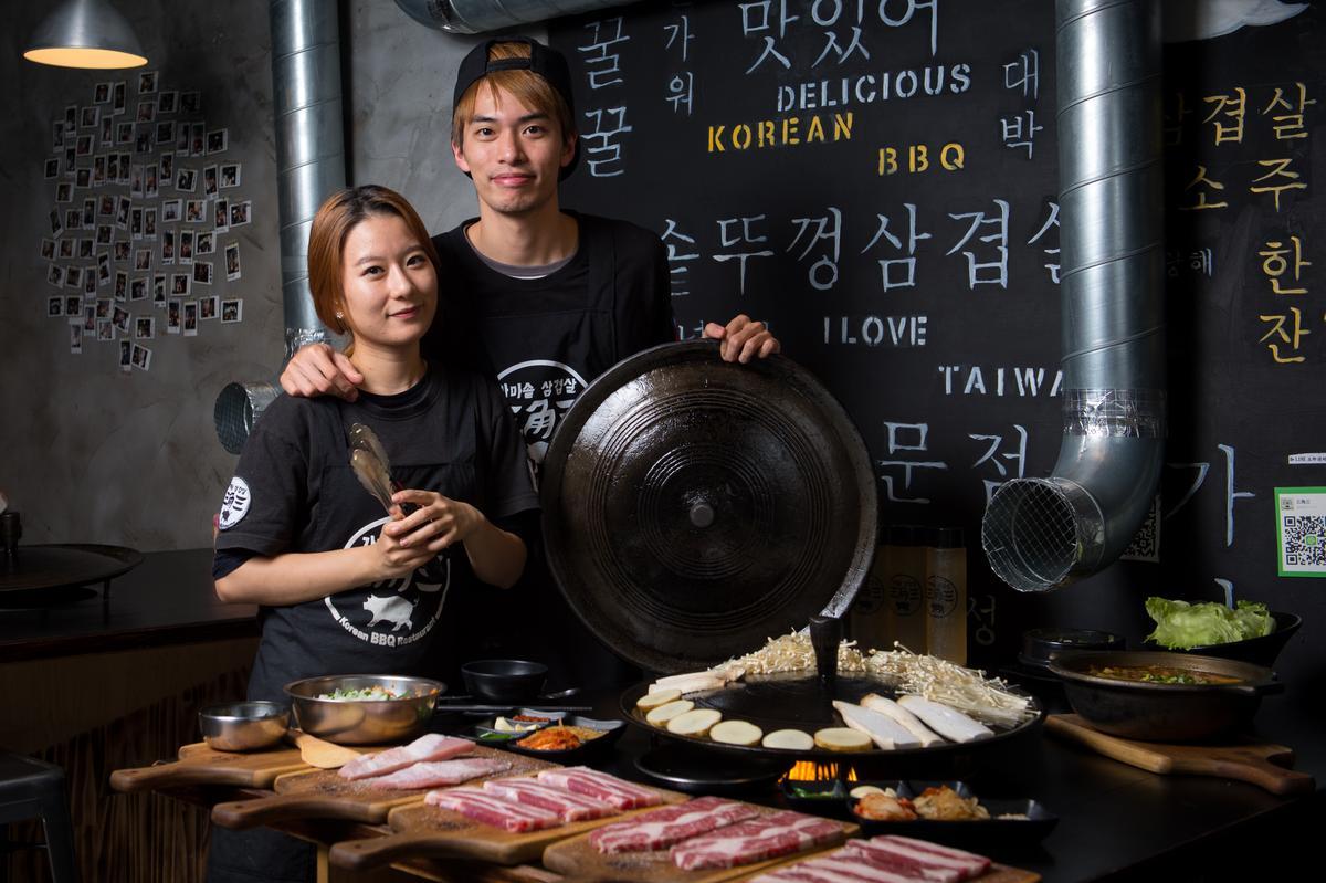 拚勁十足的夫妻倆已在大台北地區開了3家餐廳。