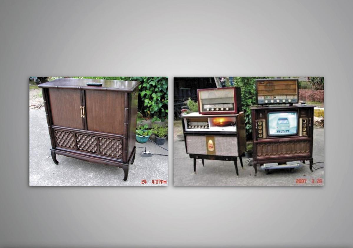 1969年,受台視委託製作電視木製拉門。