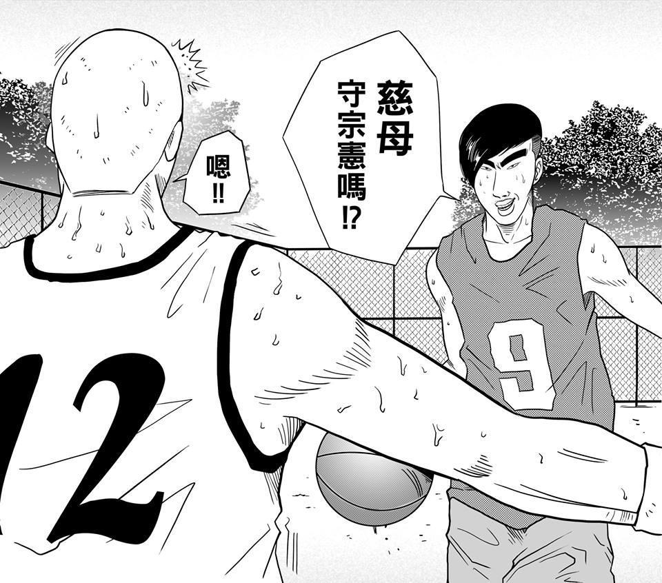 「美又大」球員、超有自信的蔡宗憲(右),常常一臉正經說出令人啼笑皆非的對話。(圖片提供/洪元建)