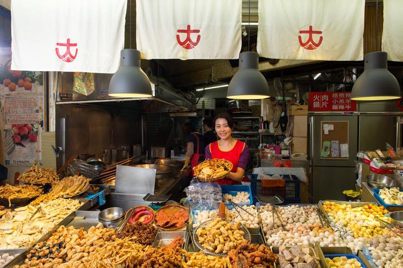 東三水街市場名店之一的大豐魚丸。