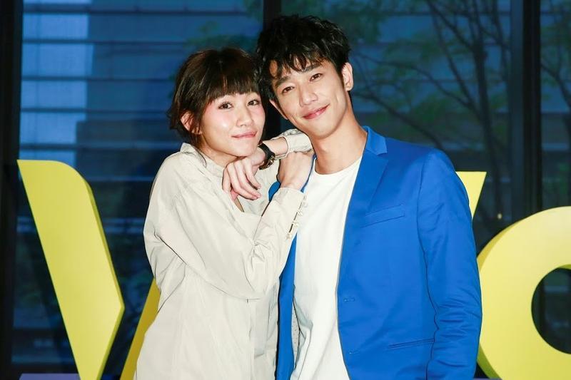 劉以豪(右)和李千娜合作新戲,培養不錯的默契。