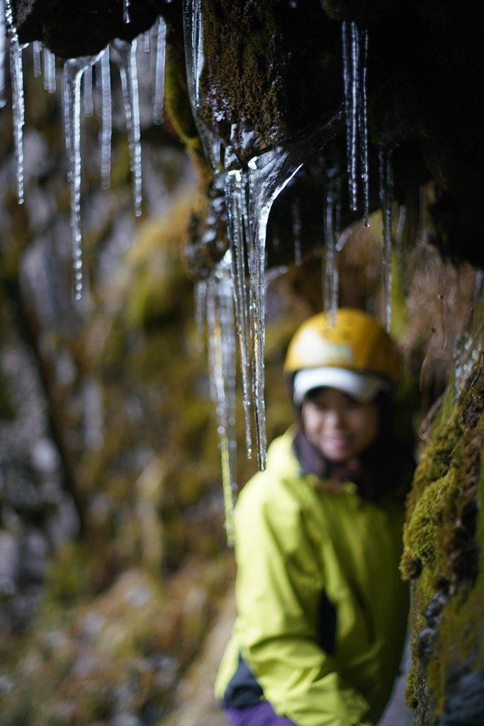 暖冬讓今年雪山並未降雪,頂多僅是泉水結冰。