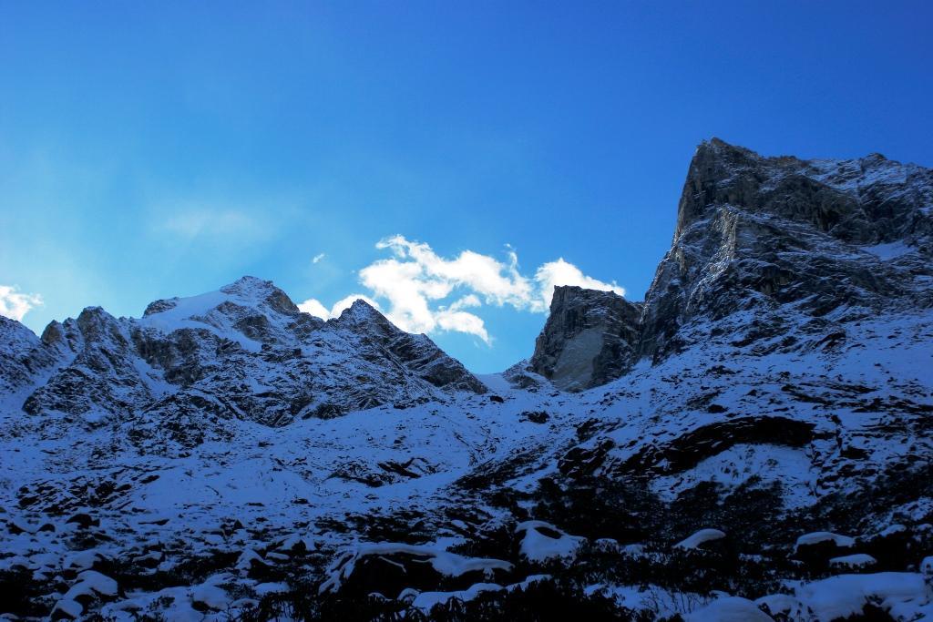 四川四姑娘山啞口前,約4,200公尺。