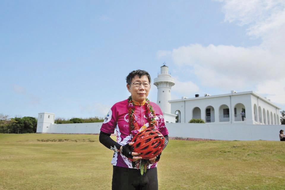 台灣自行車協會辦過「一日雙塔」等知名活動,北市長柯文哲也挑戰過此路線。(翻攝柯文哲臉書)