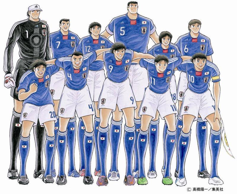 日本經典足球漫畫《足球小將翼》。