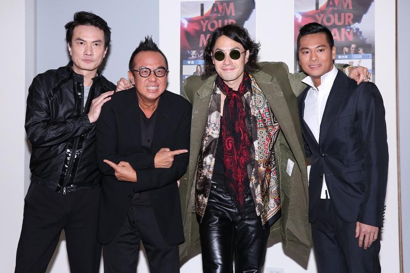 李泉(左起)、黃大煒、吳建豪及POLO上週在Legacy合唱嗨翻全場。 李鍾泉攝