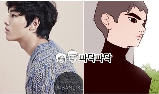 韓國網友票選《Love Alarm》的最佳男主角為童星出身的呂珍九。(翻攝自韓網)