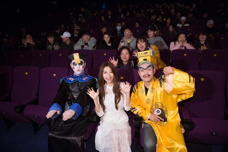 林明禎出席電影試映會,稱自己在拍片時完全沒遇到可怕狀況。
