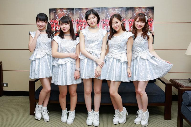 早安少女組5位成員訪台閃電宣傳,停留不到24小時。(成員左起:野中美希、橫山玲奈、橫山楓、小田櫻與石田亞祐美)