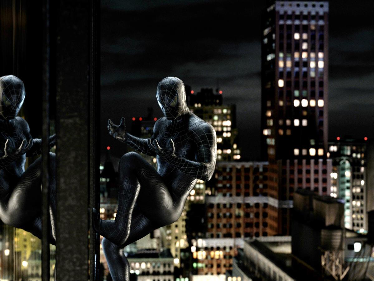 《蜘蛛人3》出現不知名的黑色有機物質黏液,之後附身成了「黑蜘蛛人」。