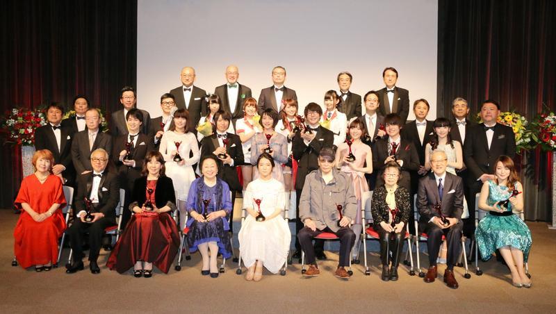 第11屆聲優獎全體受獎人合影。