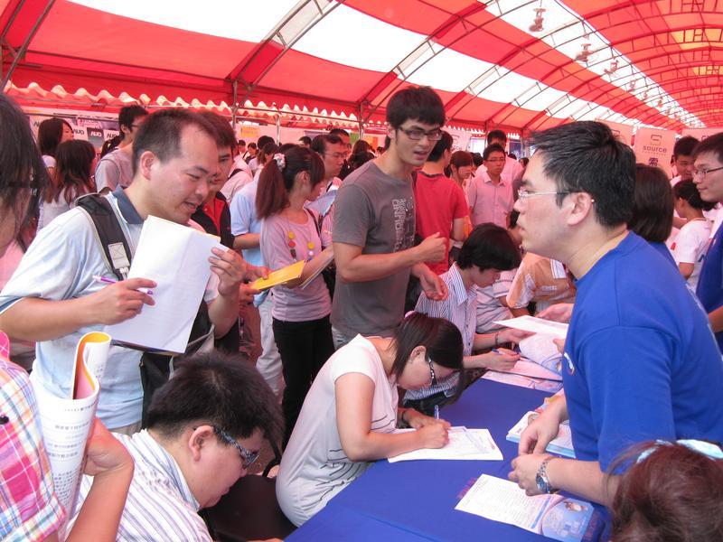 外僑老闆眼中,台灣人工作勤奮、值得信賴且受過良好教育,但創意可以再加強。圖為2010年竹科就業博覽會。(東方IC)