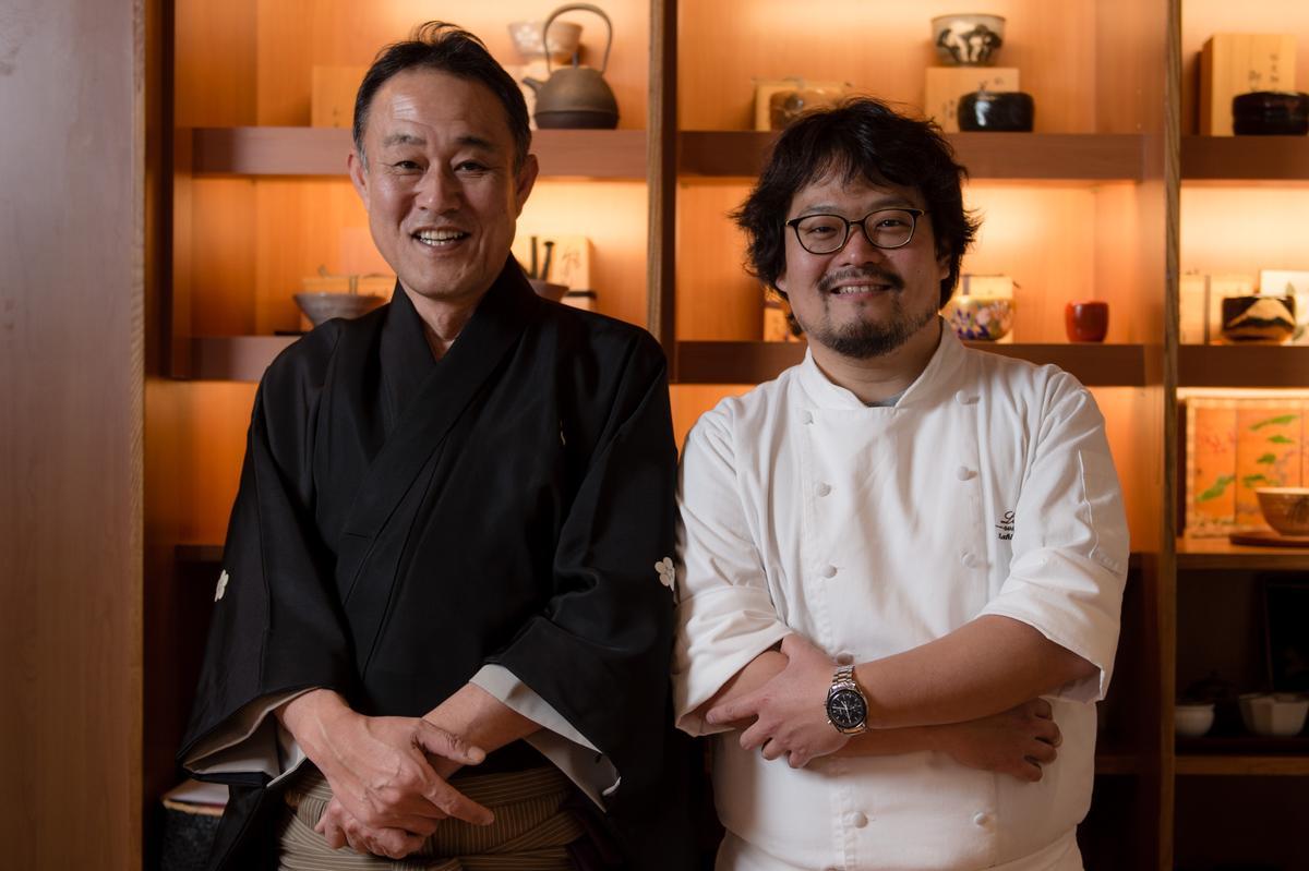 兩位大師為了紀念311東日本大地震六週年,齊聚在台北辦了這場慈善茶會。