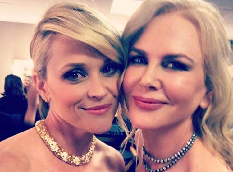 妮可與瑞絲在奧斯卡頒獎當晚以好姊妹姿態聯袂頒獎,但日前卻傳出她倆其實不合已久。(翻攝自瑞絲IG)