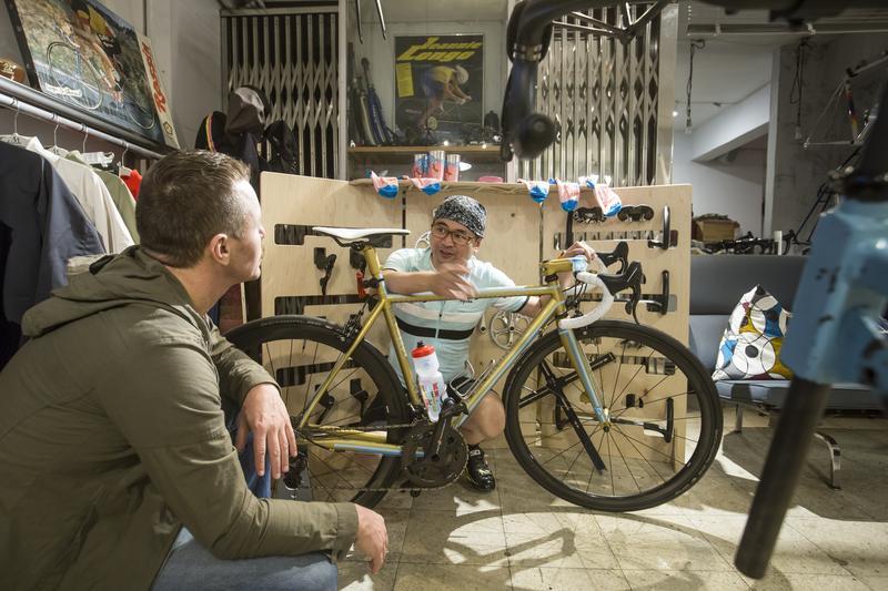 慧智基因董事長蘇怡寧很有主見,連腳踏車都要按照自己意見訂製。