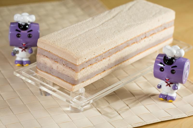 繼「俗又大碗」的芋泥卷後,香帥蛋糕因應市場需求,推出小尺寸芋泥長條蛋糕。
