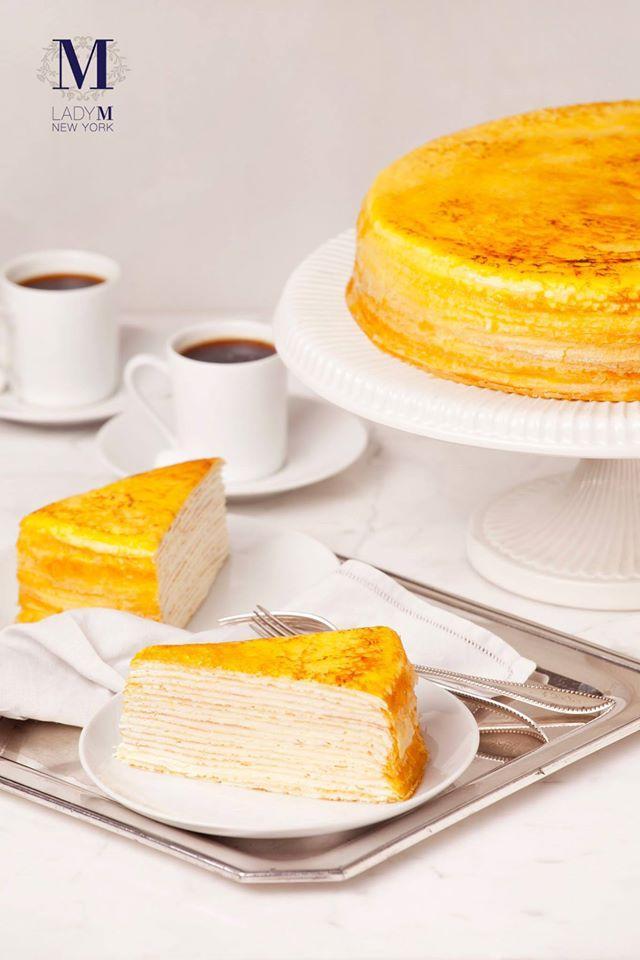 近期爆紅的Lady M蛋糕屬於重鮮奶油的法式千層蛋糕。(翻攝Lady M臉書粉絲團)