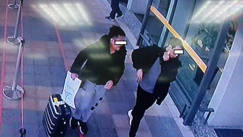 徐嫌和同案嫌犯在日本將安毒交付買家,期間還有說有笑。
