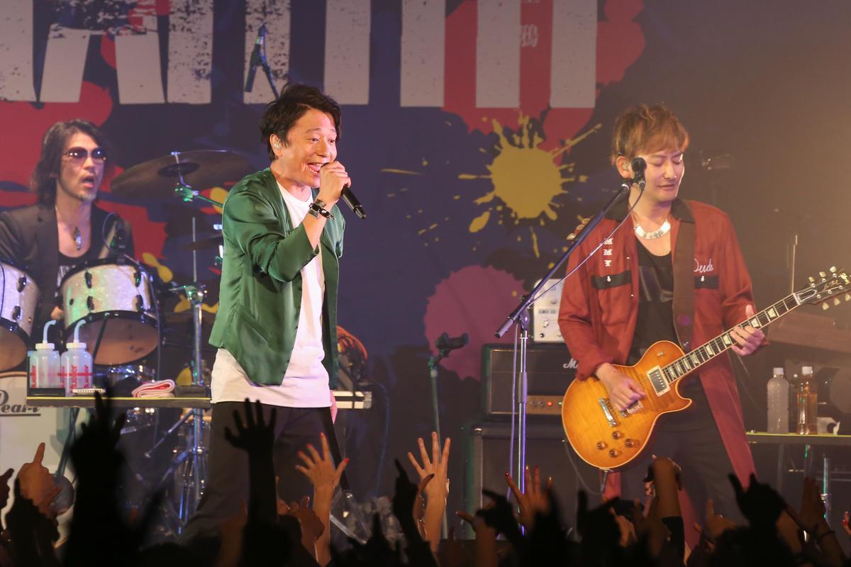 PORNOGRAFFITTI 色情塗鴉主唱岡野昭仁(左)和吉他手新藤晴一(右)帶來豪華歌單,將經典曲目一一呈現給台灣歌迷。