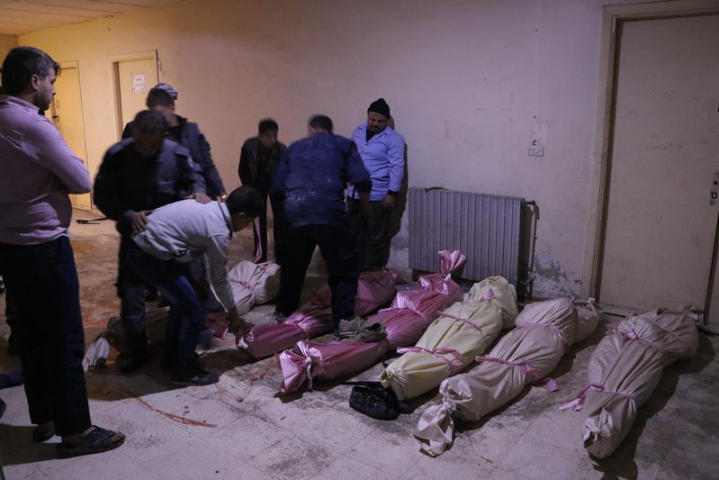 大馬士革在阿塞德政府的空襲下,不少無辜的百姓喪生。圖為東方IC提供