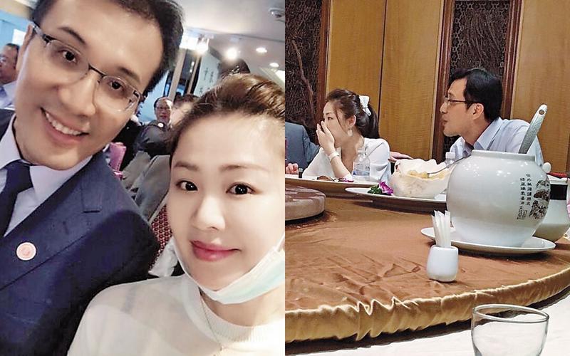 台北市議員吳志剛(左)與新北市議員李婉鈺(右),傳出曾祕戀3個月。(翻攝臉書)