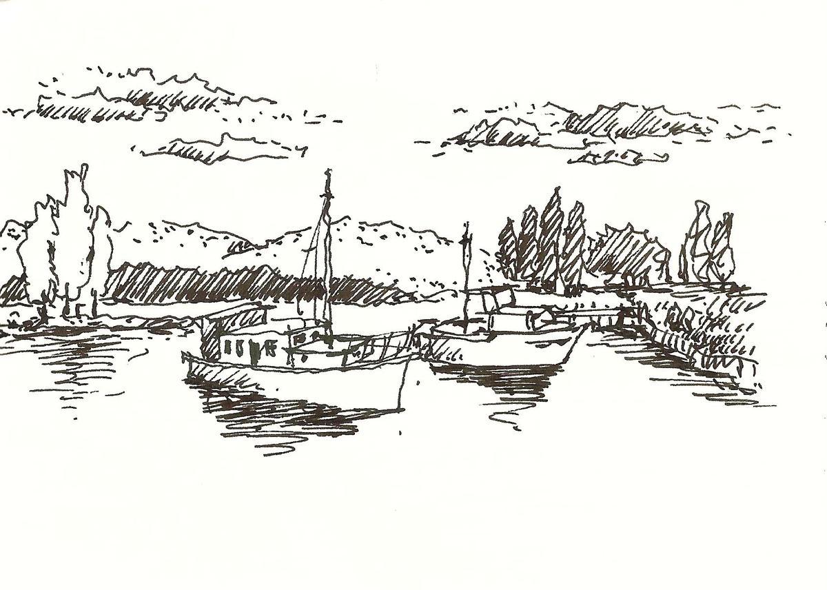 Lake Te Anau的一個小碼頭