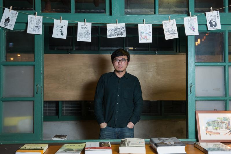 導演廖士涵把親身經歷寫進《積木之家》裡,讓恐怖情節多了幾分真實感。(陳仁萱攝)