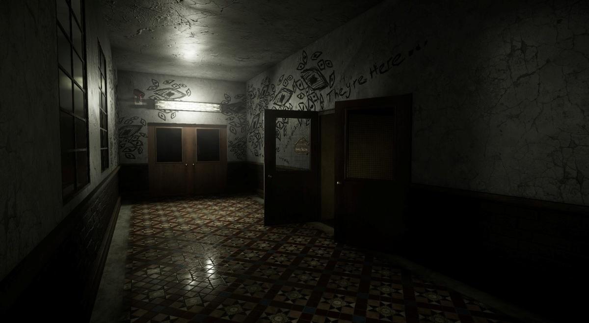玩家要穿越三個區域,從室外到室內的場景都很陰森