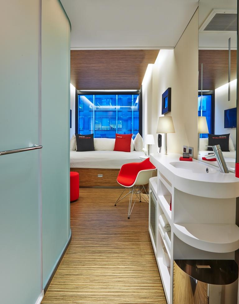 citizenM全酒有6家酒店的客房是事先大量規模化生產的。