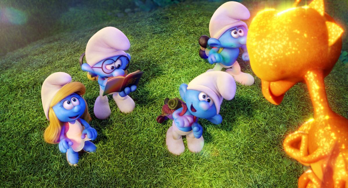 《藍色小精靈:失落的藍藍村》。索尼影業提供