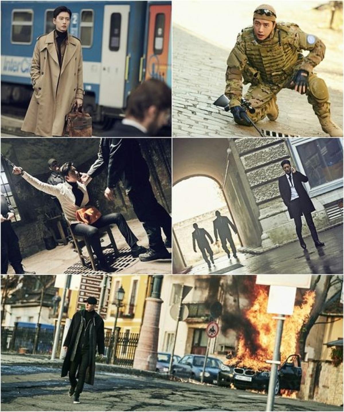 為詮釋新戲角色需求,朴海鎮換上軍人、囚犯、特務等不同面相,讓他大過戲癮。(網路圖片)