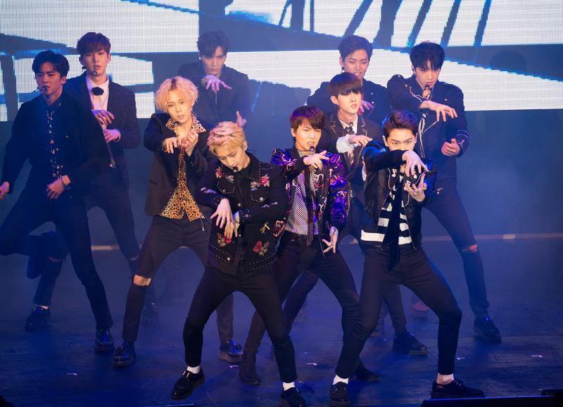 PENTAGON是韓國10人組合,出道5個月首次來台表演。