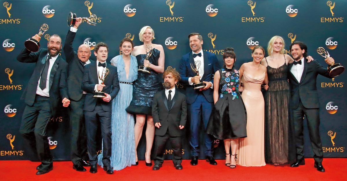 《 冰與火之歌:權力遊戲》開播至今在全球口碑爆棚,還創下艾美獎獲獎最多的戲劇紀錄。(東方IC)