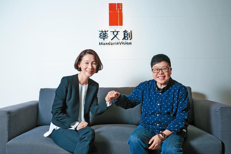 何琇瓊(左)與葉如芬(右)加入「華文創」,首重開發原創IP及培養人才為目標。