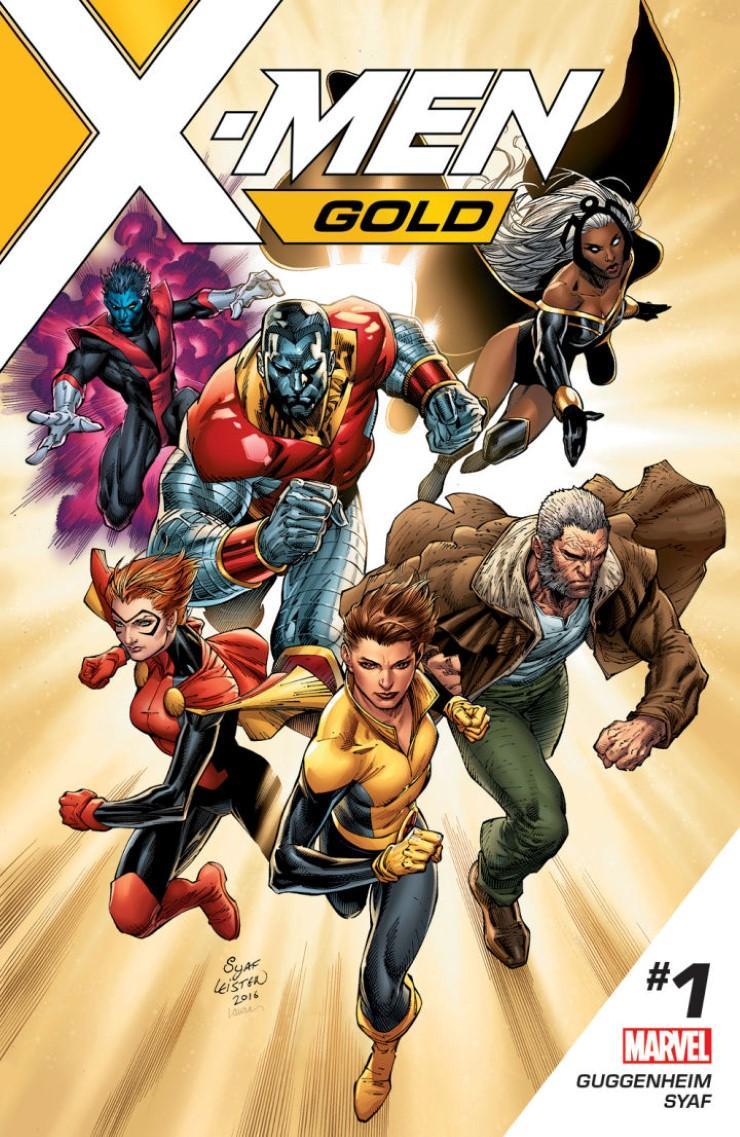 《X戰警Gold》第1集漫畫封面。