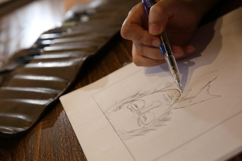 對阮光民來說,畫漫畫是長時間的孤獨以及與無形相處。